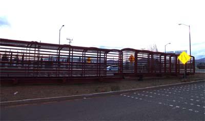 Puente peatonal que se construye entre el CBTIS No. 106, y el Secundaria Técnica No. 9